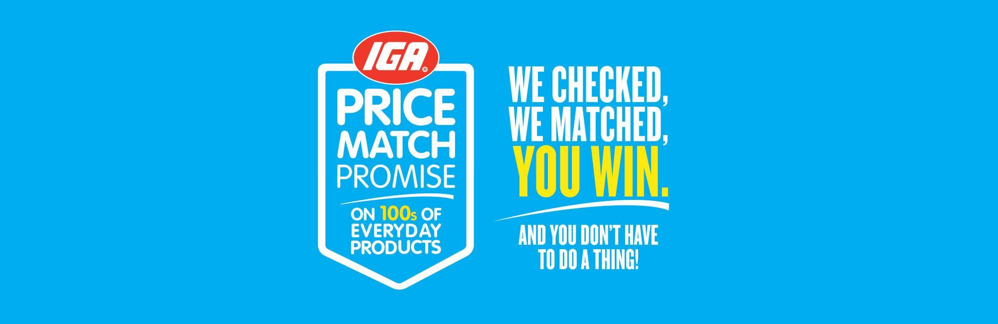 IGA Price Match Promise Header3