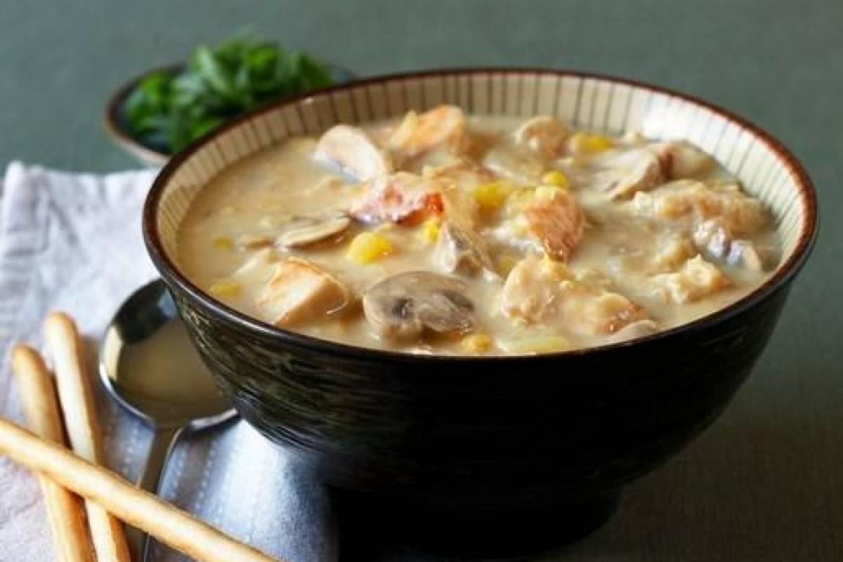 Creamy Chicken Sweet Corn Soup W107050803