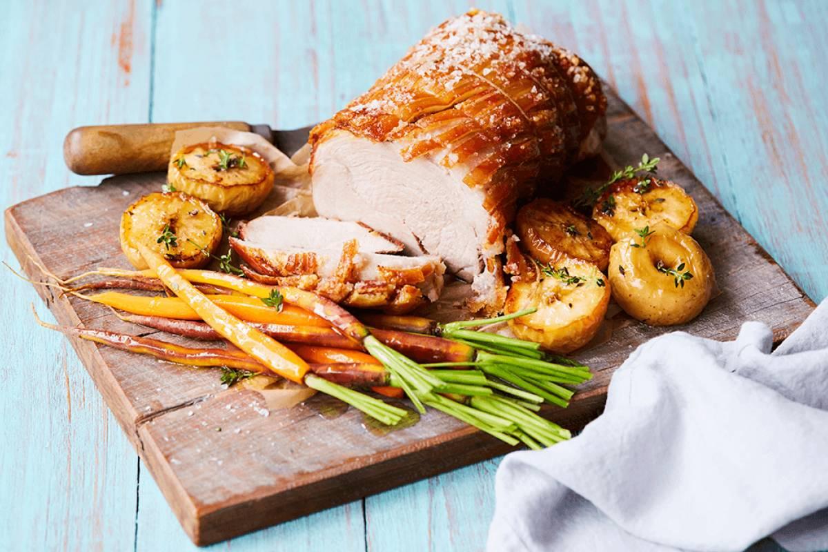 Crackling roast pork