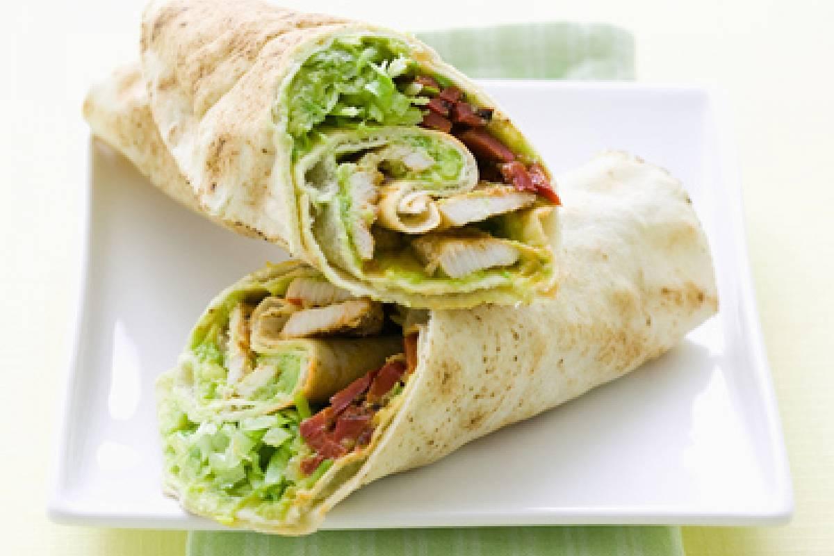 Chicken avo wrap