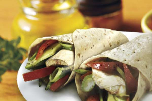 Chargrilled Chicken and Vegetable Wraps
